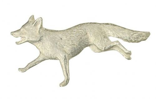 Solid Silver Fox Brooch Hallmarked British Handmade to Order Boxed